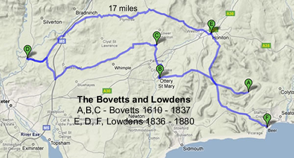 Bovetts and Lowdens Journey