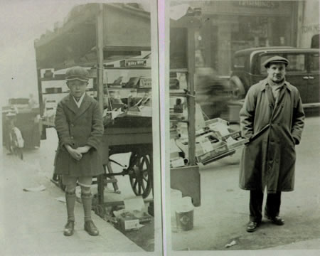 Lew Forrest and father Sweet shop Gt Titchfield Street 1936